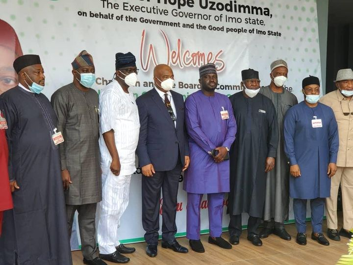 NCC Governing Board Visits Imo State Governor, Sen. Hope Uzodinma